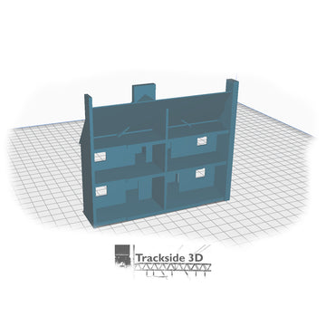 T3D-008-001 Railwayside Terrace - Low Relief House (Rear) Open w/ Hallways