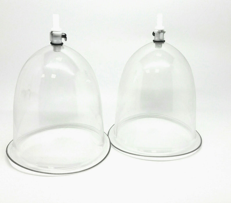 2 Medium Airlock Contoured Breast Enlargement Cups