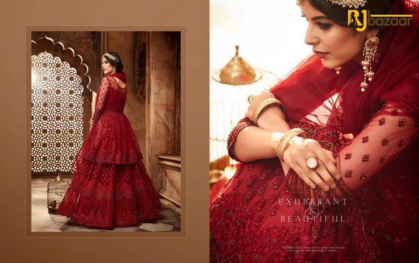 Heavy Gown Net And Santoon With Embroidry