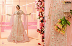 Pink Net Salwar Suit Embroidery