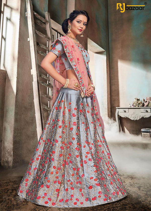 Silver Exclusive Bridal Wear Lehenga Choli