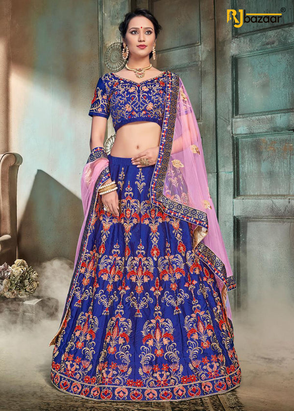 Royal Blue Exclusive Bridal Wear Lehenga Choli