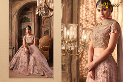 Heavy Net with Embroidery And Diamond Lengha Choli