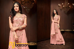 Pink Salwar Suit Heavy Football Net With Embroidery