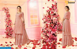 Pink Heavy Jorjet Salwar Suit Embroidery