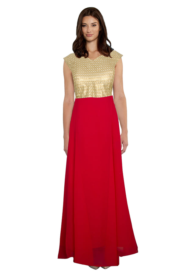 Exclusive Designer Olay Red Gown