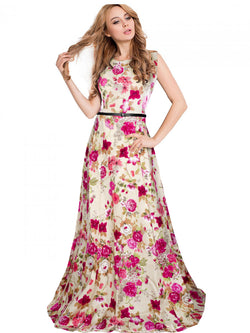 Exclusive Designer Wine Gown