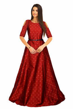 Exclusive Designer Sofiya Red Gown