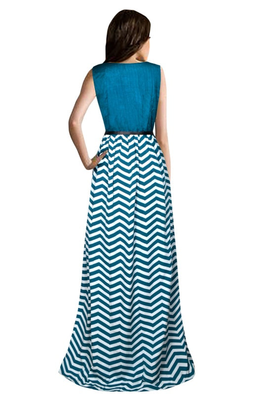 Exclusive Designer Zigzag C-Green Gown