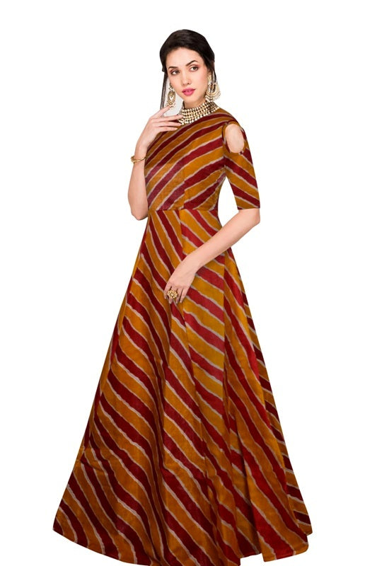 Exclusive Designer Maroon Gown