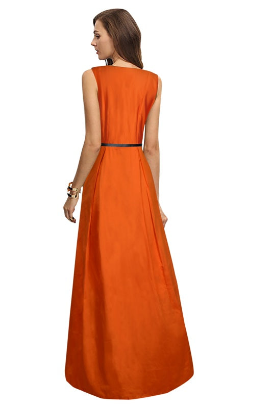 Exclusive Designer Orange Gown
