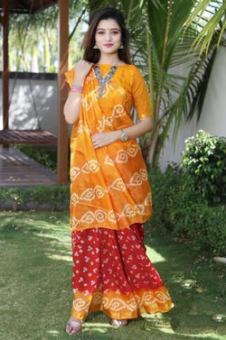 Causal Wear Heavy Waving Bandhani saree