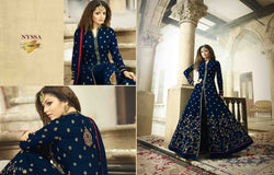 LT Nitya Navy Blue Faux Georgette Embroidery Work