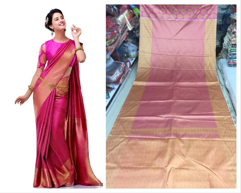 Exclusive Trandy Hot Designs Digital Pink Saree