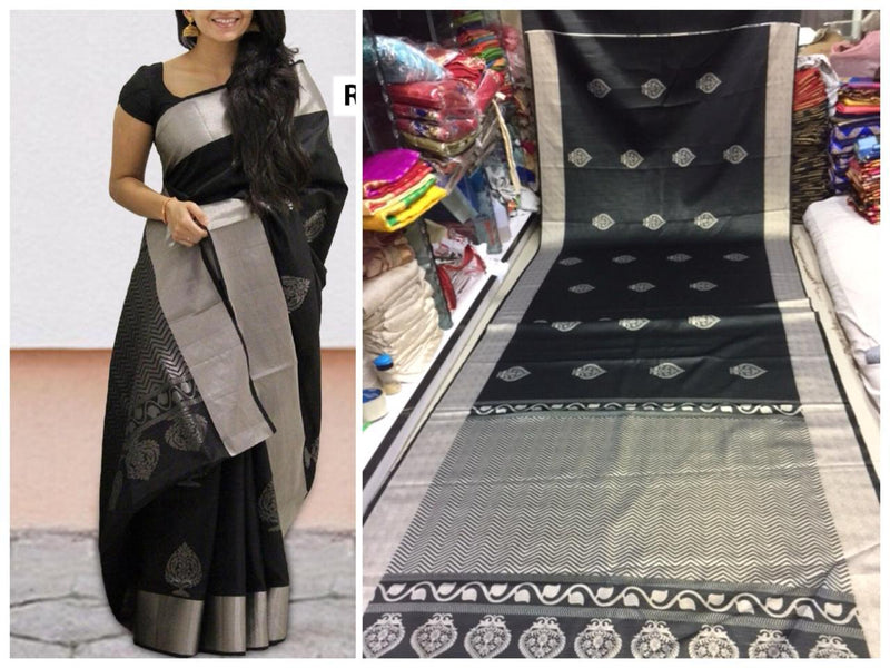 Trandy Designs Digital Printed Black Saree
