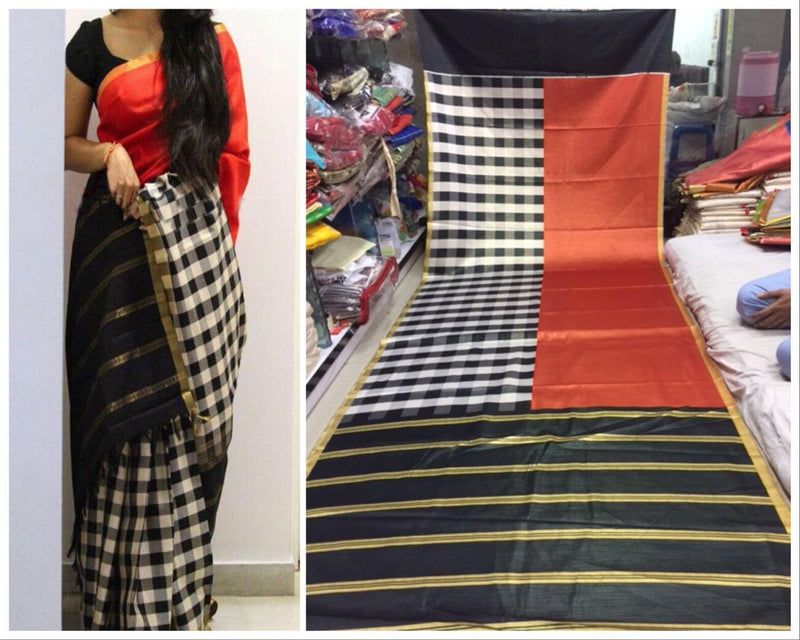 Exclusive Trendy Hot Designs Digital Black Saree