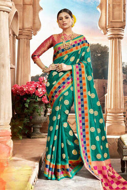 Crystal Handloom Weaving Silk Saree