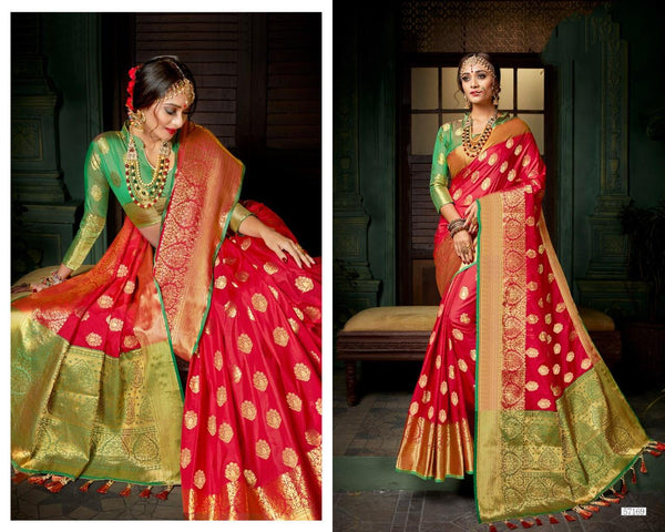 Banarasi Pethni Silk Designs Heavy Pallu Saree