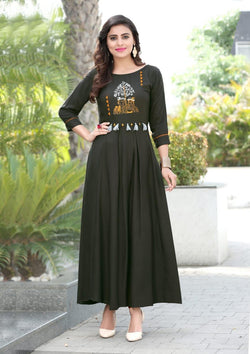 Heavy Slub Rayon Full Steach Light Kurti