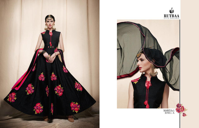 Banglori Silk With Stiched Inner Santoon Black Colour Gown