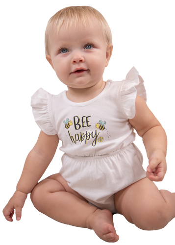 Simply Southern Collection Bee Happy Bow Crawler