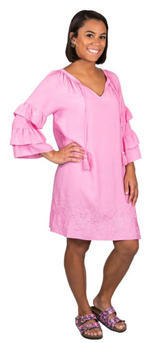 Simply Southern Embroidered Pink Dress