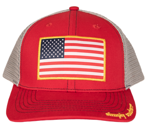 SIMPLY SOUTHERN MEN'S RED FLAG HAT