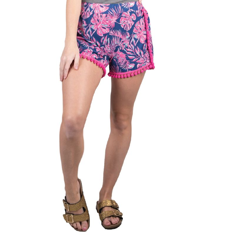 Simply Southern Paradise Pom Shorts