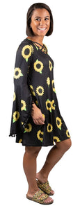 Simply Southern Sunflower Cross Pom Dress