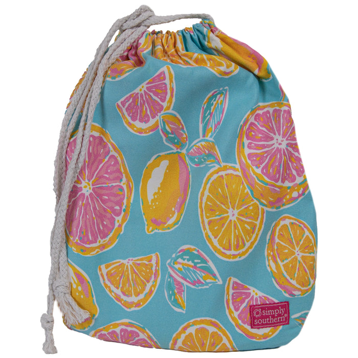 Simply Southern Zest Quick Dry Towel with Drawstring Bag