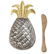 Load image into Gallery viewer, MUD PIE PINEAPPLE METAL BOWL SET