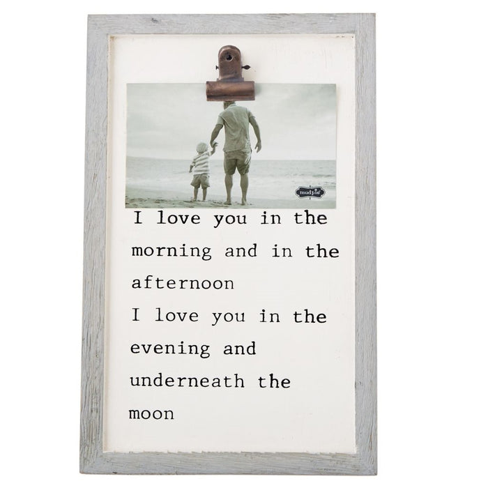 MUD PIE I LOVE YOU BLINDER CLIP FRAME