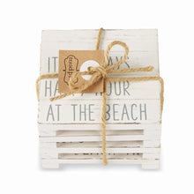 Load image into Gallery viewer, Mud Pie Planked Beach Coaster Set