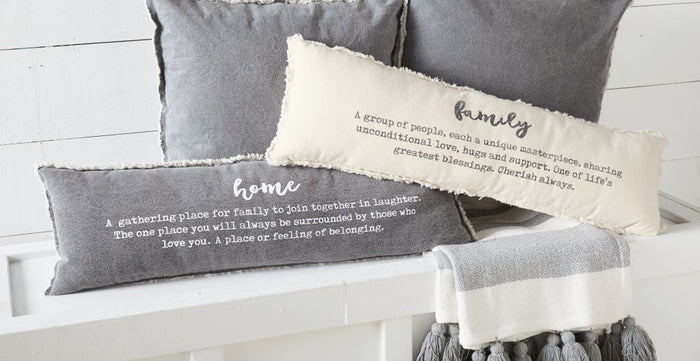 MUD PIE WASHED CANVAS DEFINITION PILLOW