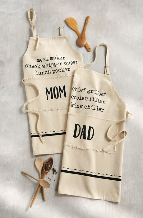 MUD PIE DAD/MOM DEFINITION APRONS
