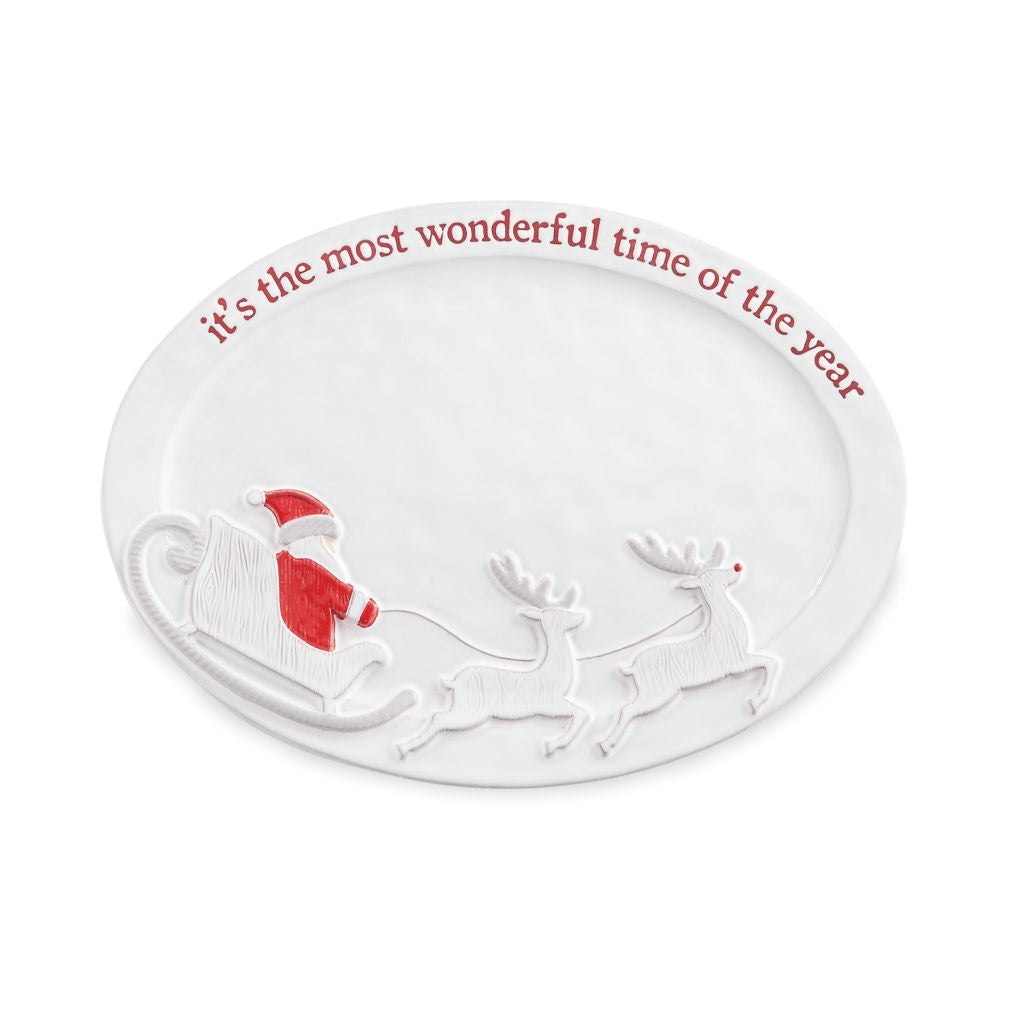Mud Pie Wonderful Time of the Year Santa Platter