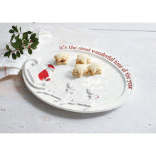 Load image into Gallery viewer, Mud Pie Wonderful Time of the Year Santa Platter