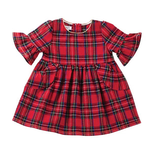 Mud Pie Tartan Plaid Dress & Bloomer Set