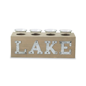 MUD PIE LAKE VOTIVE BLOCK