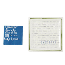 Load image into Gallery viewer, Mud Pie Lake Life Appetizer Plate Set
