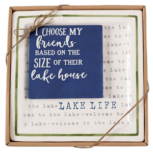 Mud Pie Lake Life Appetizer Plate Set