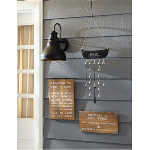 Mud Pie Welcome To The Lake Wind Chime