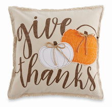 Load image into Gallery viewer, Mud Pie Applique Canvas Pumpkin Pillows
