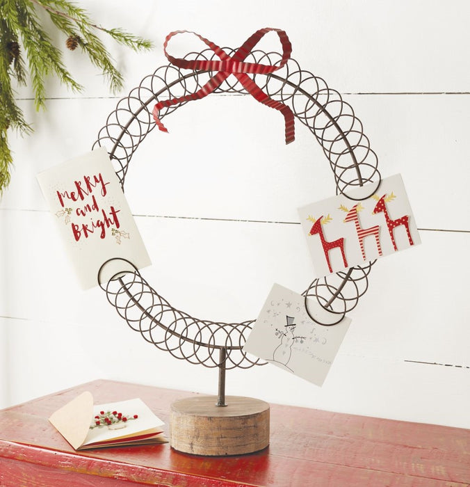 Mud Pie Wreath Card Holder