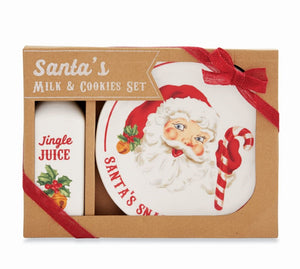 Mud Pie Santa's Milk and Cookies Set