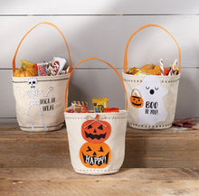 Load image into Gallery viewer, MUD PIE CANVAS TRICK OR TREAT BAGS