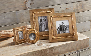 MUD PIE BEADED WOOD FRAMES