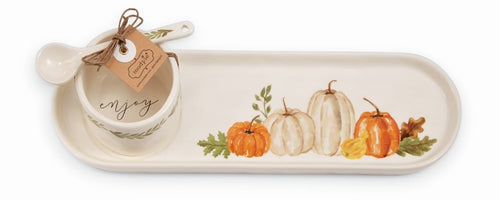 Mud Pie Gather Pumpkin Tray Set