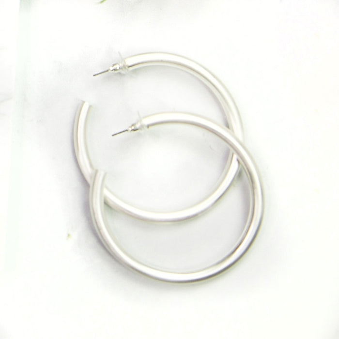 Michelle McDowell Estonia Silver Hoops