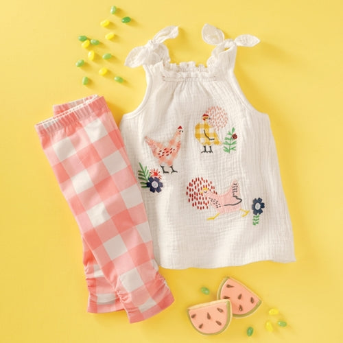 Mud Pie Chicken Tunic & Capri Set